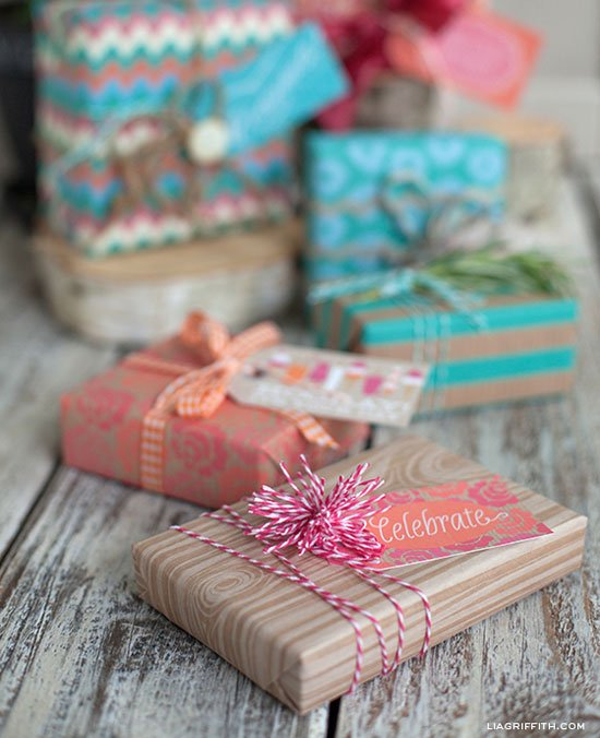 Lia Griffith Creative Gift Wrapping with Sweet Summertime Printables