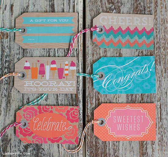 Sweet Summertime Gift Tags, free printables by Lia Griffith