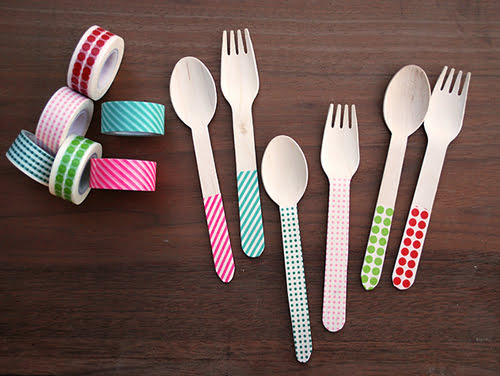 Washi Tape Silverware by Merry Thought