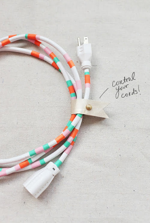 Washi Power Cords by Design Love Fest