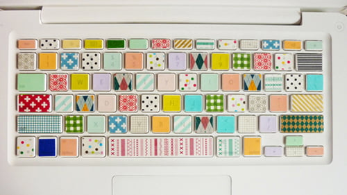 Washi Keyboard by Mini Fan Fan