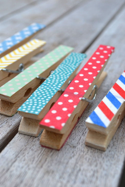 DIY Washi clothespins by Art Bar Blog