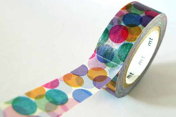 Spots Japanese Washi Tape by PrettyTape on Etsy