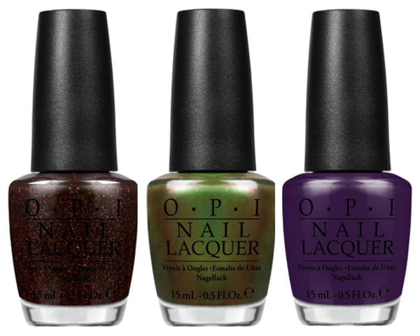 Coca-Cola by OPI Today I Accomplished Zero, Green On the Runway, A Grape Affair