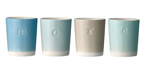 Alphabet cups by Quince Living