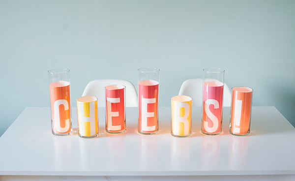 DIY Message Candle Centerpiece, Copyright Oh Happy Day