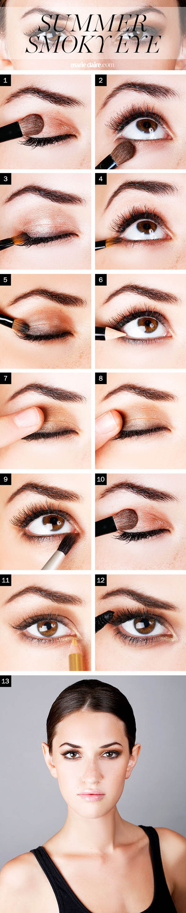 Summer Smoky Eye How To, Copyright www.marieclaire.com
