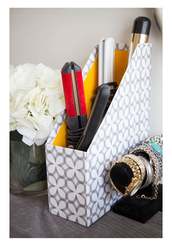 Make Up Storage Magazine Box, Credit: Kathleen Kamphausen (via MarieClaire.com)