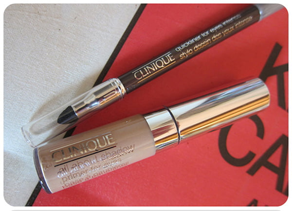 Clinique All About Shadow Primer for Eyes and Quickliner for Eyes Intense
