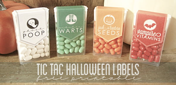 Halloween Tic Tac Labels, Copyright Somewhat Simple