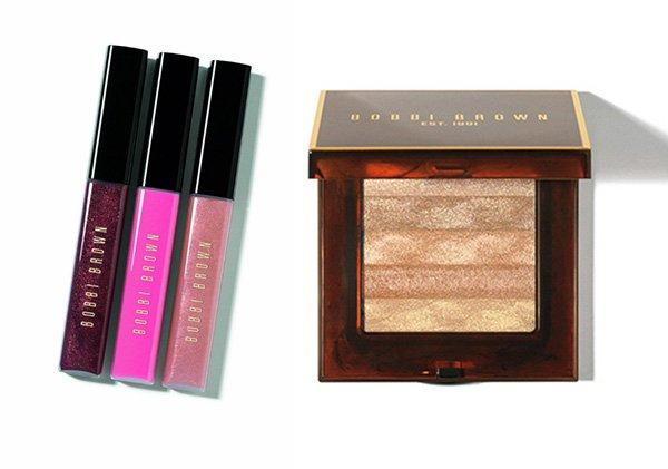 Bobbi Brown Holiday Collection 2014 Lip Gloss Trio and Shimmer Brick Copper Diamond