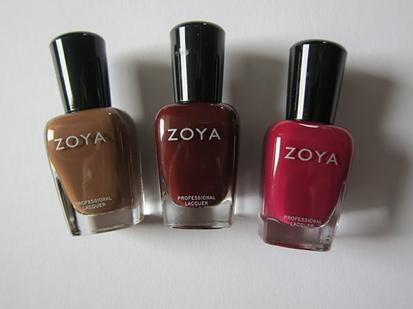 Zoya_Nyssa, Claire and Veronica (Zoya Autum 2014 Entice Collection)