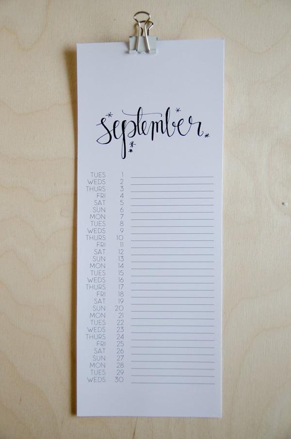 2015 Calendar by Lemon Thistle, Image Copyright Lemonthistle.com
