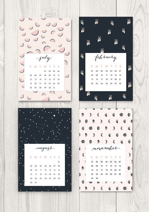 Free Printable 2015 calendar by Oh The Lovely Things (Image Copyright)