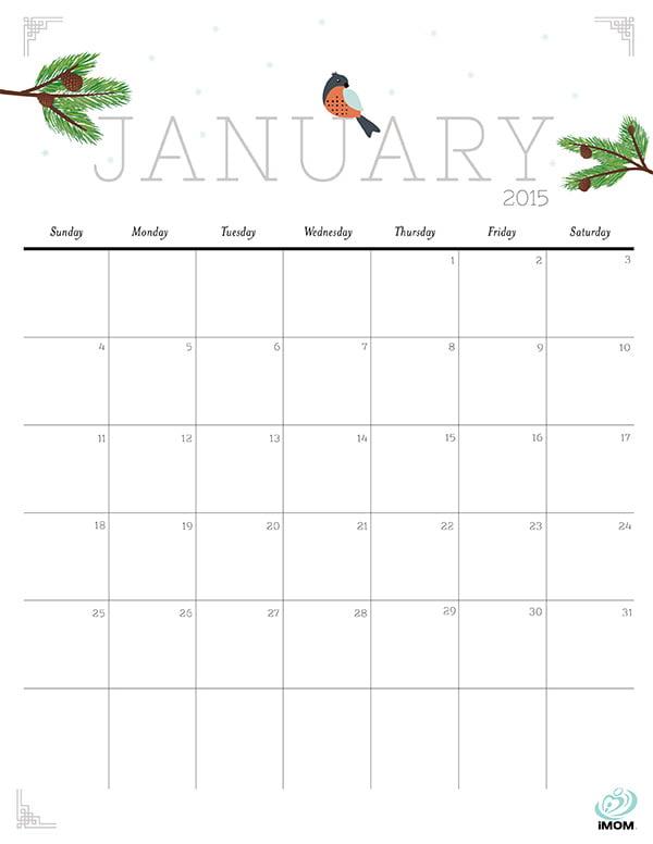 2015 Calendar by iMom, Image Copyright: Imom