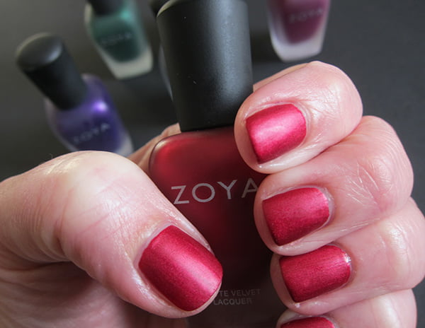 Zoya MatteVelvet Collection swatch «Posh» by Hey Pretty Beauty Blog