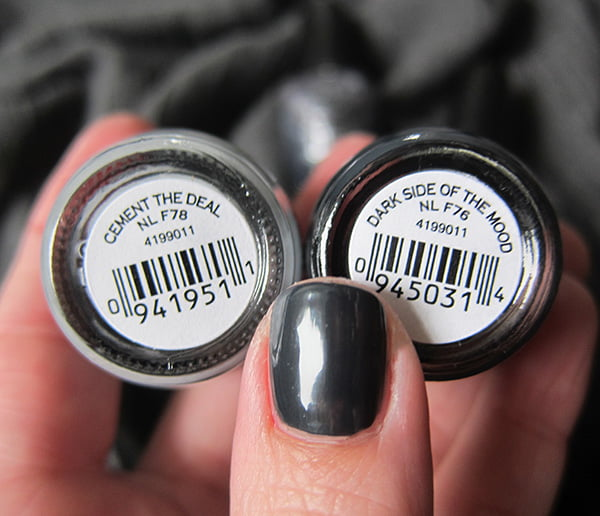 OPI Fifty Shades of Grey Cement the Deal and Dark Side of the Mood Swatch by Hey Pretty