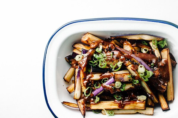 Honey Garlic Eggplant, Image Copyright www.iamafoodblog.com