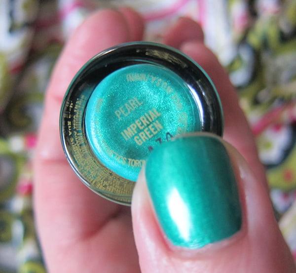 MAC Bao Bao Wan Collection Studio Nail Lacquer Swatch Inperial Green by Hey Pretty Beauty Blog