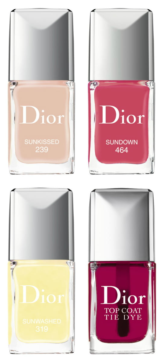 Dior Summer 2015 Tie Dye: Vernis Sunkissed, Sunwashed, Sundown and Top Coat Tie Dye