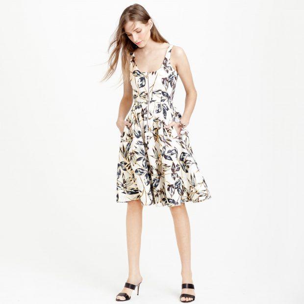 Linen Zip-Front dress, Image Copyright: J. Crew