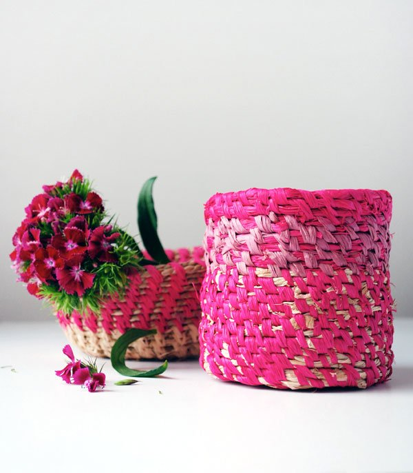 Coiled Raffia Basket DIY, Image Copyright: We Are Scout