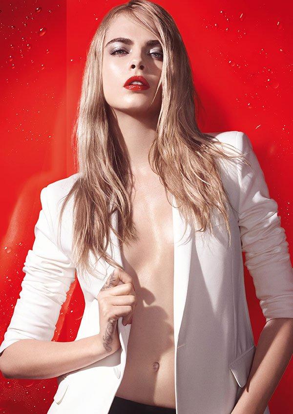 YSL Pop Water Collection 2015: Visual Cara Delevigne