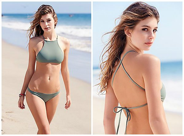 Made by Dawn High Neck Crop Top and Bikini Bottoms, Image Copyright: Freepeople