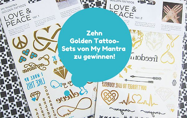 My Mantra Golden Tattoos, Image by Hey Pretty Beauty Blog