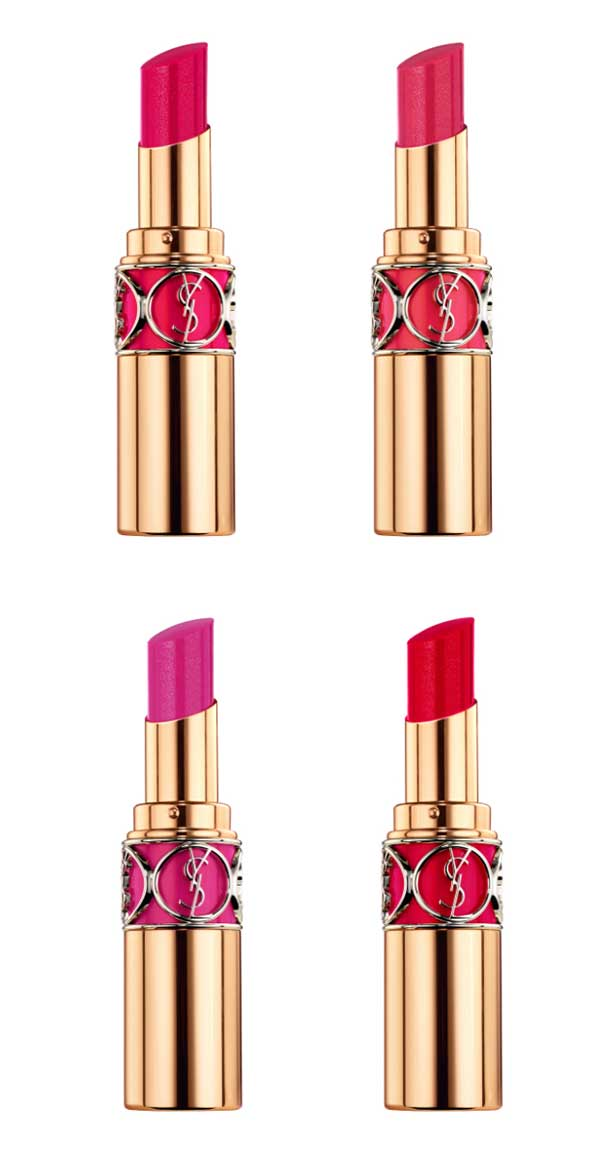 YSL Holiday Look 2015 Kiss & Love, Rouge Volupté Shine in 4 new nuances