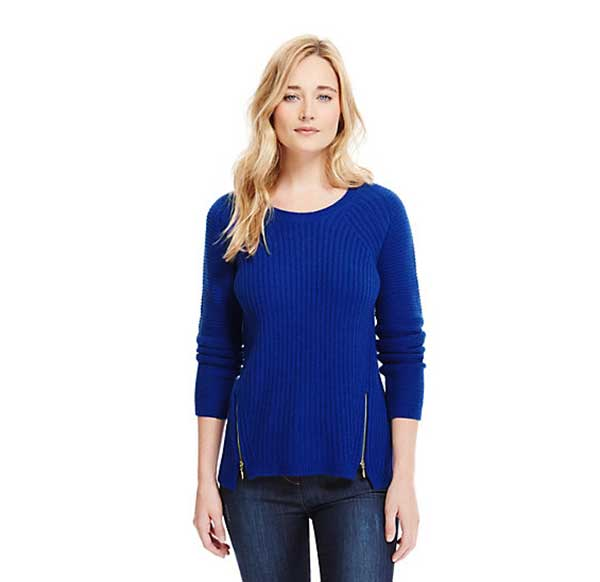 M&S Pure Cashmere Ribbed Jumper