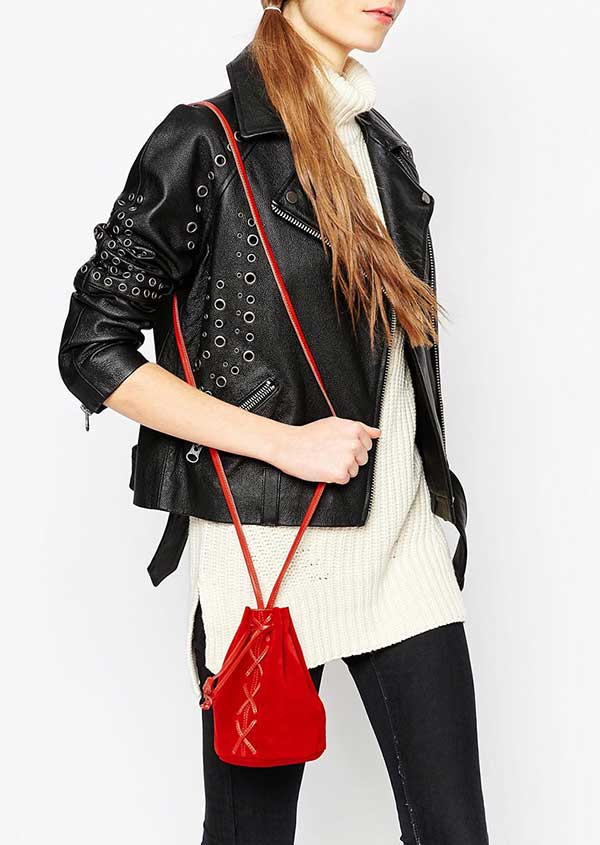 Mini Suede Lace-Up Duffle Bag, Image Copyright: ASOS