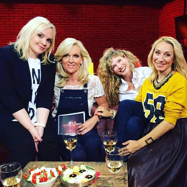 Steffi, Patricia Boser und Blonderblog-Mädels Sabrina Pesenti und Tamara Cantieni... Blondinen, die bitte und danke sagen.